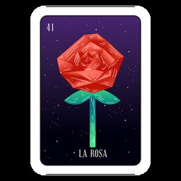 Loteria rose card