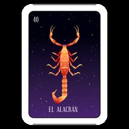 Cartão de escorpião Loteria