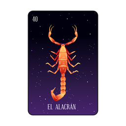 Loteria scorpion card