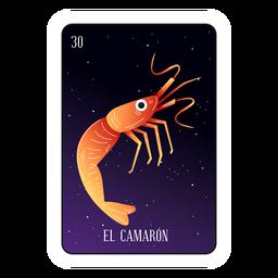 Cartão de camarão Loteria