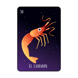 Loteria shrimp card