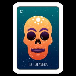 Cartão de caveira Loteria