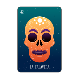 Loteria skull card