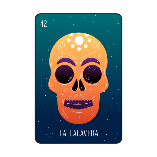 Loteria skull card Transparent PNG