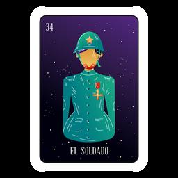 Tarjeta de soldado de Loteria