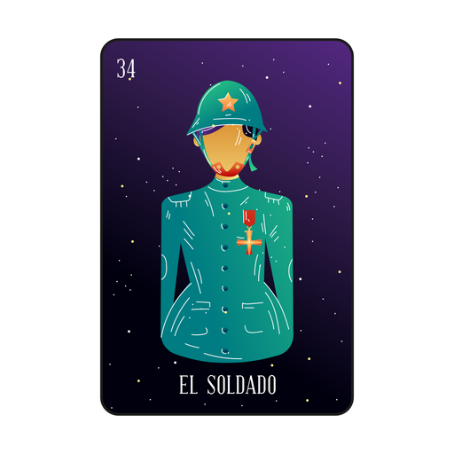 Loteria soldier card