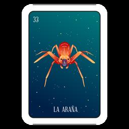 Cartão de loteria aranha