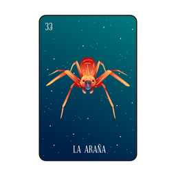 Tarjeta de araña Loteria