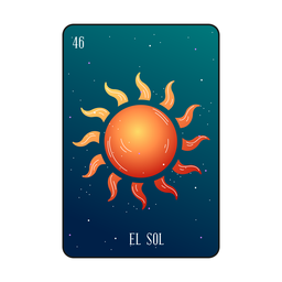 Tarjeta solar de Loteria