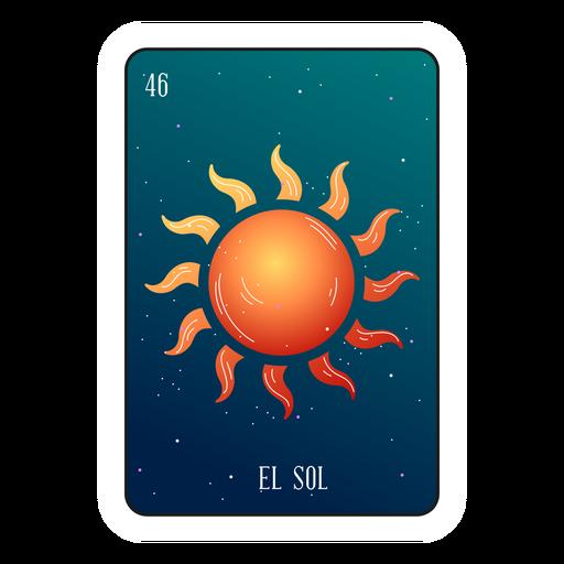 Loteria sun card Transparent PNG