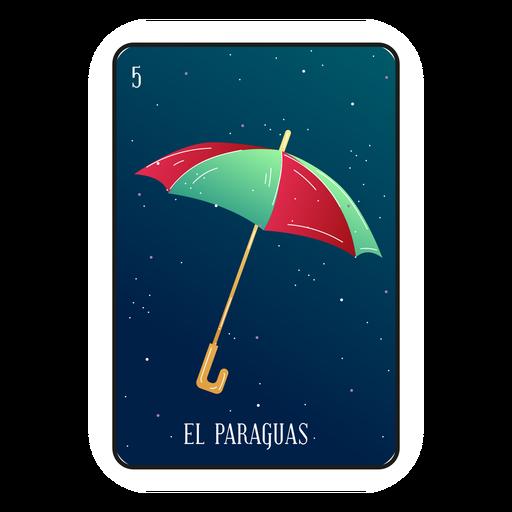 Loteria umbrella card Transparent PNG