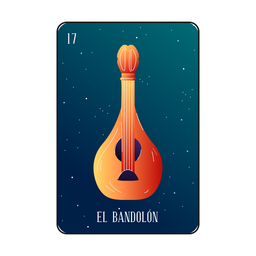 Mandolin loteria card