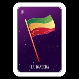 Cartão da loteria bandeira mexicana