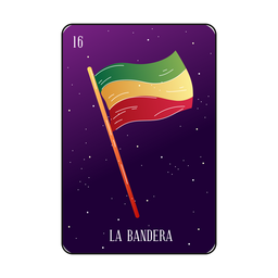 Mexican flag loteria card