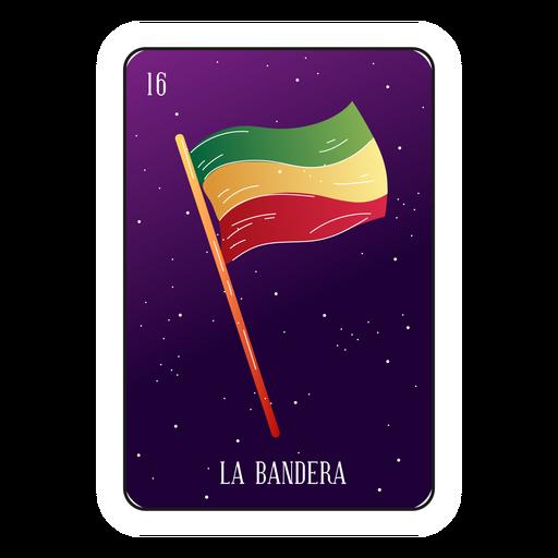 Tarjeta de loteria de bandera mexicana Transparent PNG