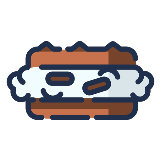 Icono de postre de moca