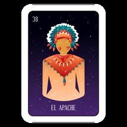 Cartão de loteria nativa
