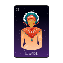 Native loteria card
