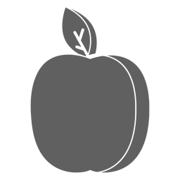 Bonito icono de manzana
