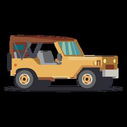Ilustração de jipe sem porta