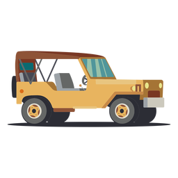 Ilustración de jeep sin puerta