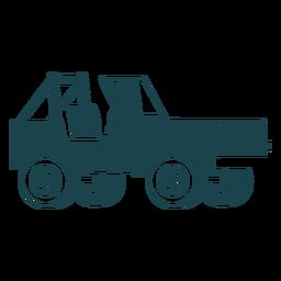 Sin techo jeep