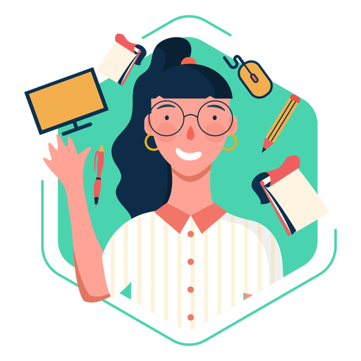 Office worker character elements Transparent PNG