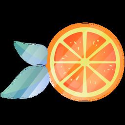 Ilustración linda naranja