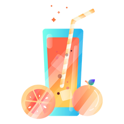 Orange juice illustration