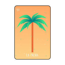 Cartão de loteria de árvore de palma
