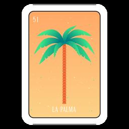 Tarjeta de loteria de palmera