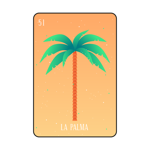 Palm tree loteria card Transparent PNG