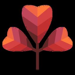 Papercut coração folhas