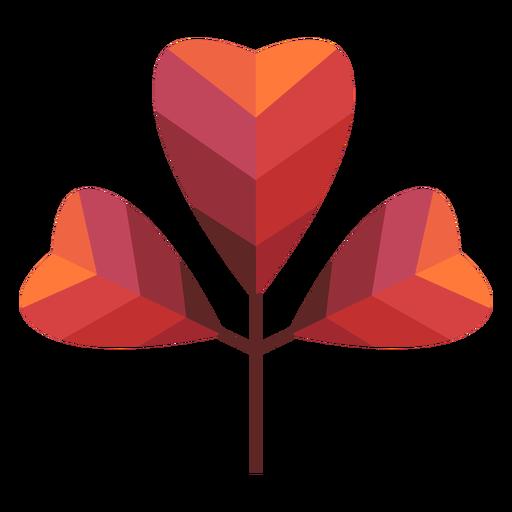 Papercut coração folhas Transparent PNG