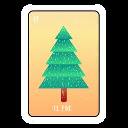 Pine tree loteria card
