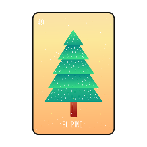 Pine tree loteria card Transparent PNG