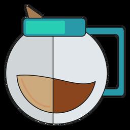 Verter sobre el icono de café