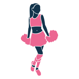 Preppy cheerleader silhouette