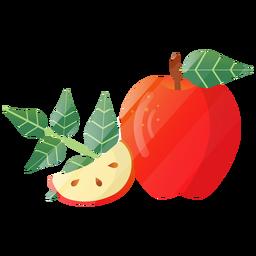 Bonita ilustración de manzana