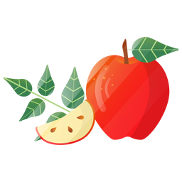 Pretty apple illustration