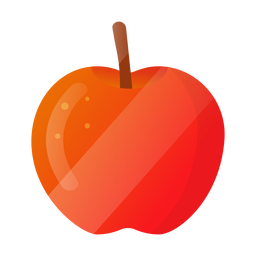 Shiny apple illustration