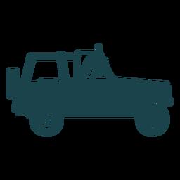 Lado sin techo jeep
