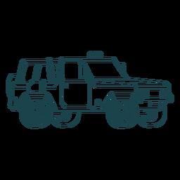 Side view jeep stroke