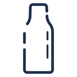 Simple milk bottle