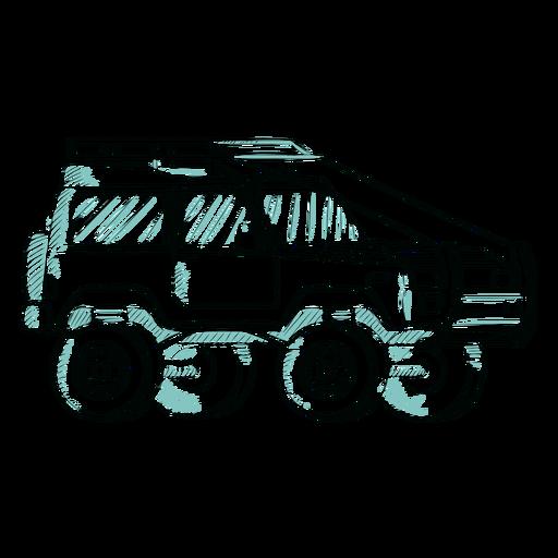 Bosquejo de ruedas grandes jeep Transparent PNG
