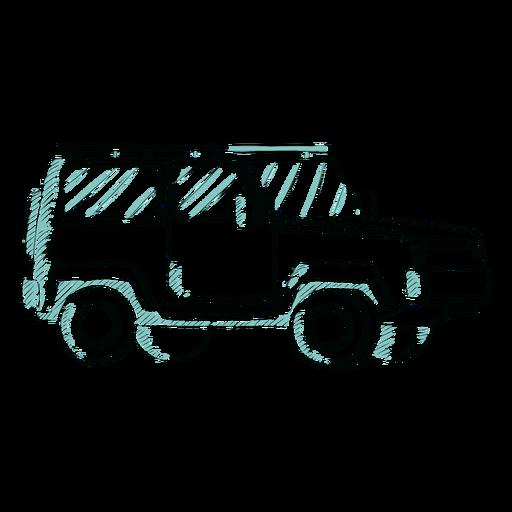Bosquejo jeep impresionante Transparent PNG