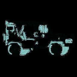 Sketch no door jeep