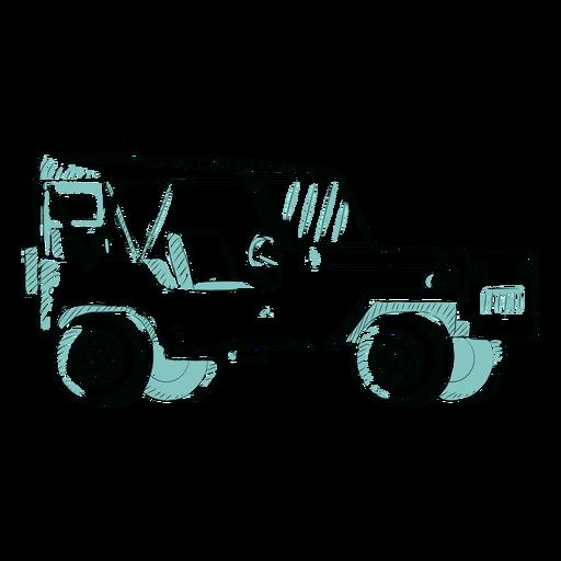 Bosquejo sin puerta jeep Transparent PNG