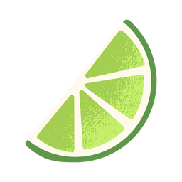Lado de limão fatiado