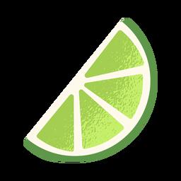 Lado fatiado de limão